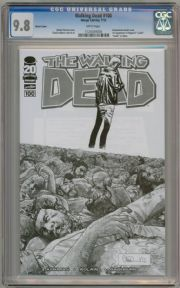 Walking Dead #100 Retailer Sketch Variant 1:200 CGC 9.8 Robert Kirkman Image comic book